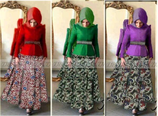 P873 Baju Batik Modern Mira Maxi (busui)