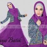 P895 Baju Pesta Batik NAYA ungu
