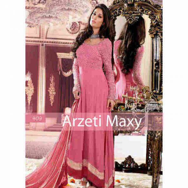 P901 Gaun Pesta Satin Arzeti India