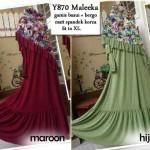 Y870 Baju Gamis Syari Maleeka Set Bergo Busui (XL)