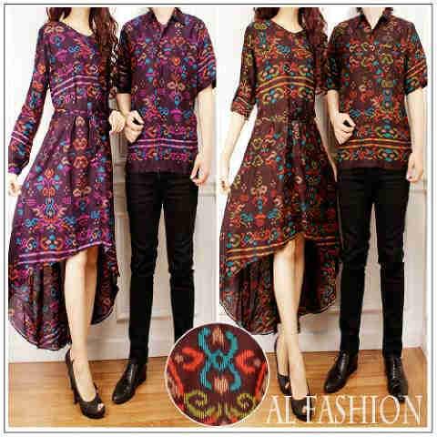 Baju Batik Couple Papua Cp911 Motif Songket Pesta Butik Jingga
