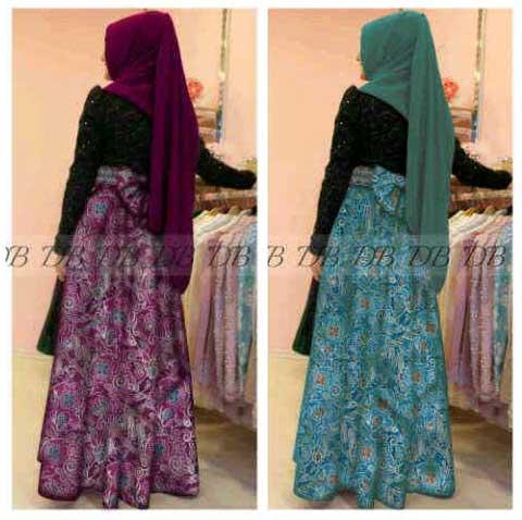 Baju Batik Pesta Brukat Nirina P897