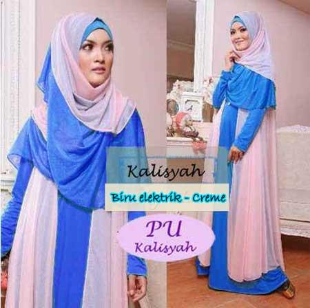 Baju Gamis Pesta Kalisyah Hijab P917 Busana Muslim Modern