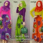 P925 gamis remaja Carisya Hijab Set