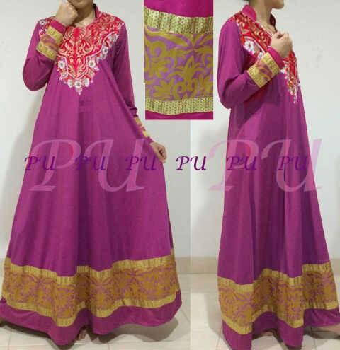 Baju Gamis Pesta Jasmine P927 Model Busana India Terbaru