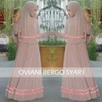 Y902 Baju gamis syari Oviani set bergo Dusty Pink