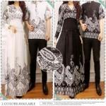 baju gamis couple batik Sakura cp909