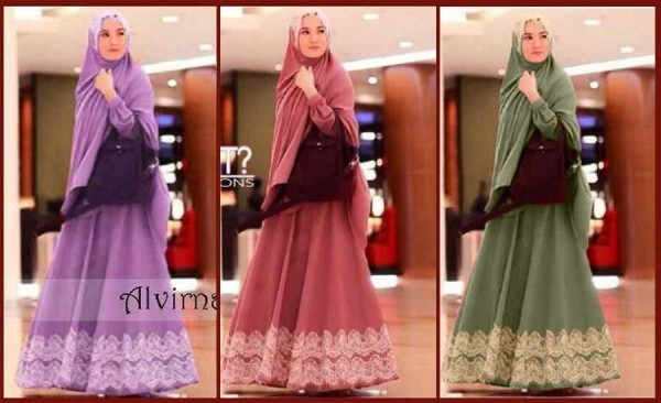 Busana Muslim Syari Alvirna Renda Y1020