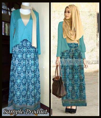 Baju Setelan Songket Minda Dhabi G885 Kebaya Batik Modern
