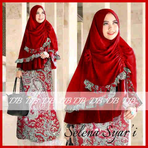 Gamis Bergo Selena Batik Y1003 Model Baju Gamis Syari