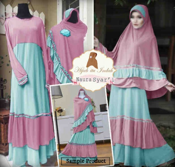 Y1009 gamis set bergo NAURA by EP