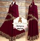 Gamis Syari Mayra Maroon Y1024 XL