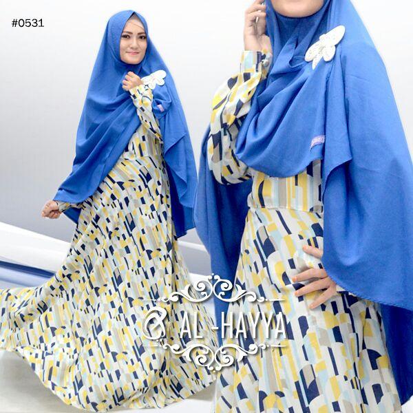 Gamis Wolfis Hamnah A074 Baju Muslim Mono Kotak