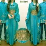 cp1014 kaftan batik couple safira (hijau tosca)