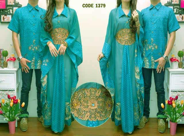 Busana Gamis Couple Muslim Batik Safira Cp1014 Butik Jingga