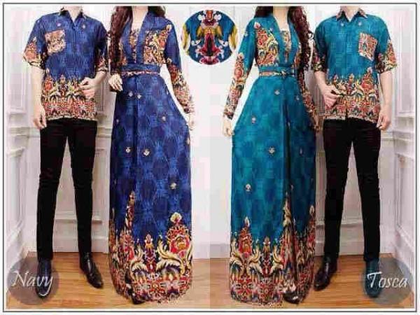 cp1039 batik couple VENUS bhn katun rayon (navy, tosca)
