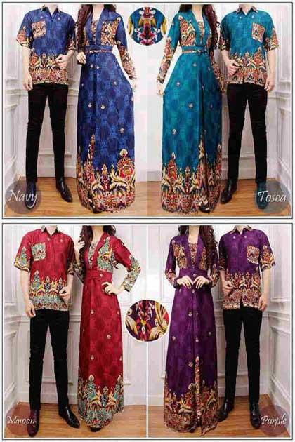 Baju Gamis Batik Couple Venus 2 Cp1039 Busana Muslim Online