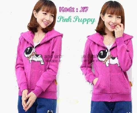 Jaket Remaja Pink Puppy J17