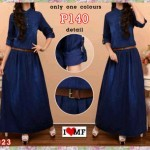 Maxi Dress Jeans Amanda P140 Dark Blue