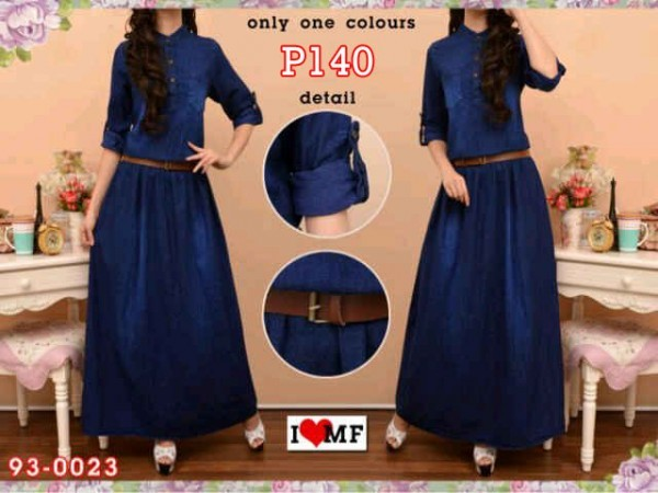 Maxi Dress Jeans Amanda P140 Dark Blue