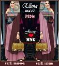Ellena Hijab Maroon-Dusty Pink P824c XL