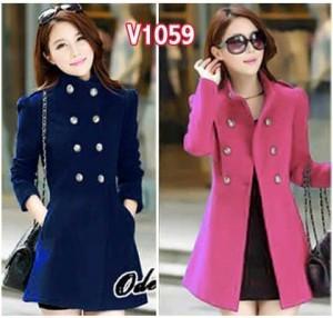 V1059 blazer wanita vimela navy - pink