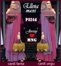 Ellena Hijab Pink Kombi Ungu P824d XL