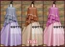 Gamis Bergo Cotton Polka Y1061
