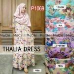 P1069 thalia dress wanita remaja