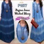 P1077 baju jeans wanita Regina