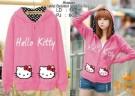Jaket Cewek Hello Kitty Pink