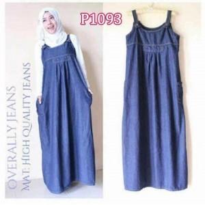 Baju Casual Overall Jeans P1093 Busana Wanita Modern