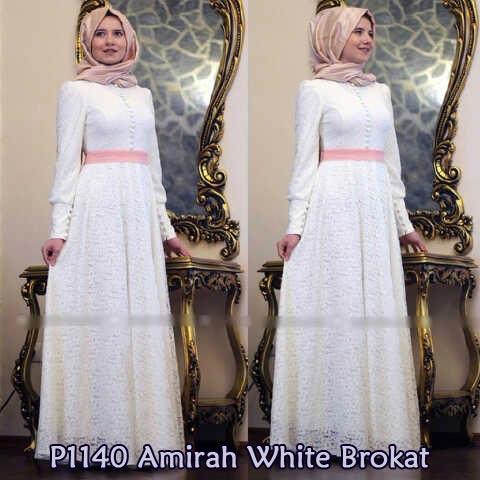 Gamis Pesta Amirah Brokat Y1140 Baju Muslim Modern