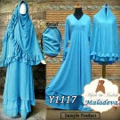 Gamis Bergo Maladeva Blue Y1117