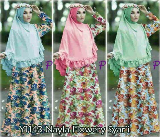 Y1143 Nayla Flowery Syari
