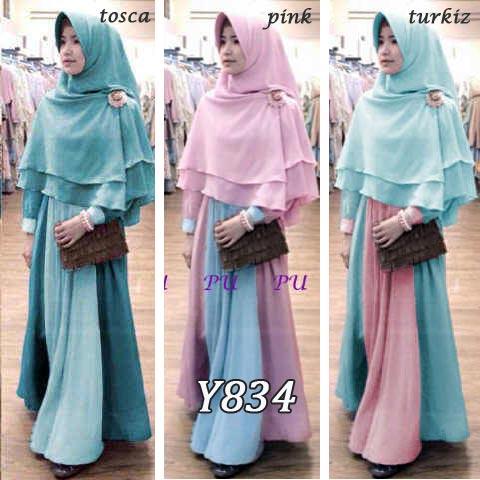 Gamis Bergo Zulfa New Y834 Baju Muslim Syari Terbaru Butik Jingga