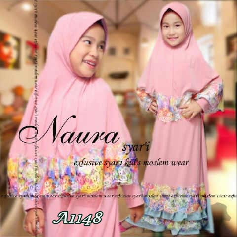Baju Gamis Anak Naura Kid A1148