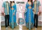Gamis Couple Batik Biru CP1155