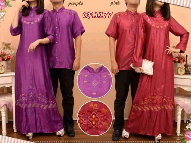 Baju Couple Denim Bordir Cp1177 Busana Muslim Modern