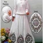 P1170 gamis angelica white bordir