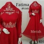 P1181 baju pesta bordir fatima merah