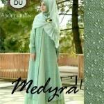 Y1165 Medyra gamis pesta hijau