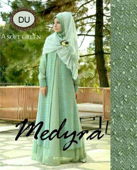 Baju Gamis Modern Medyra Y1165 Busana Muslim Pesta