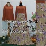 Y990 Gamis Bergo Sakura Orange