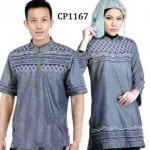 cp1167 baju couple katun bordir abu