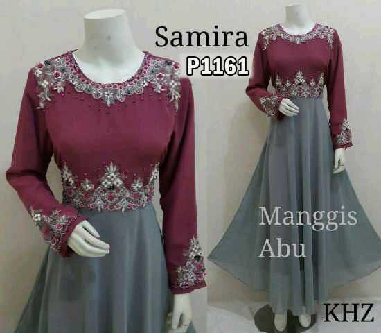 Gamis Gaun Pesta Samira Manggis P1161 Baju Wanita Xl