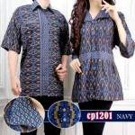 cp1201 batik couple sweet navy