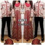 cp1203 gamis couple syahnaz batik