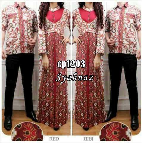 Gamis Couple Syahnaz Cp1203 Baju Muslim Lebaran Batik