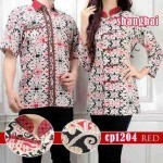 cp1204 batik couple red shanghai katun